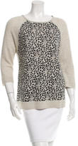 Autumn Cashmere Cashmere Leopard Pattern Sweater
