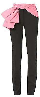 Carolina Herrera Women's Removable Sash Straight Leg Trousers