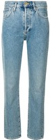 Gold Sign mid rise straight jeans