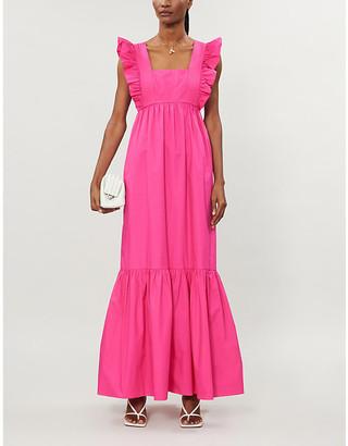 Self-Portrait Tiered cotton-poplin maxi dress