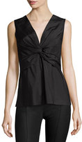 The Row Krianni Sleeveless Twist-Front Top, Black