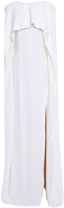 Stella McCartney Convertible Cape-back Silk Satin-trimmed Crepe Gown