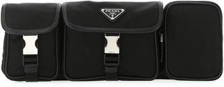 Prada Logo Plaque Utility Belt Bag