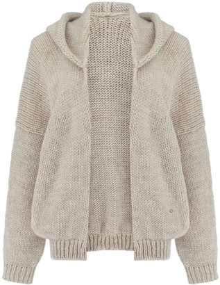 You By Tokarska Soft Sweater Akane With Hood Beige