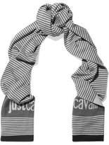 Just Cavalli Striped Wool-Blend Scarf