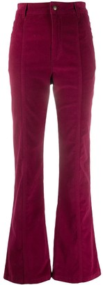 Philosophy di Lorenzo Serafini High-Waisted Flared Cotton Trousers
