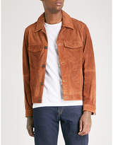 Michael Kors Suede trucker jacket
