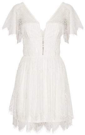 Nicholas Corded Lace Mini Dress