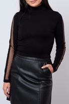 Noisy May High-Neck Cropped Sweater