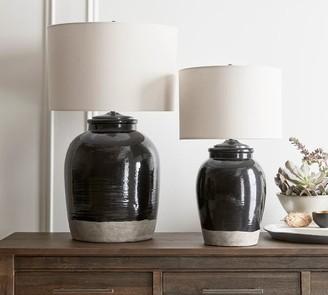 Pottery Barn Miller Ceramic Table Lamp Base, Black