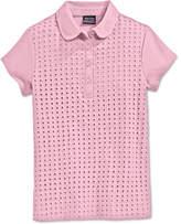 Nautica School Uniform Eyelet Polo Shirt, Big Girls Plus (7-16)