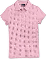 Nautica School Uniform Eyelet Polo Shirt, Big Girls Plus (8-20)