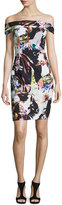 Black Halo Off-the-Shoulder Floral Sheath Dress, Vision Quest