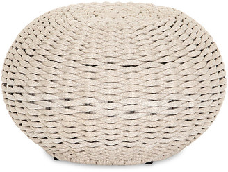 One Kings Lane Myles Outdoor Accent Stool - Natural