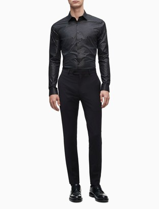 Extra Slim Fit Metallic Black Temperature Regulation Dress Shirt