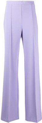 Elisabetta Franchi Pressed-Crease Flared Trousers