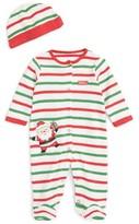 Little Me Infant Boy's Santa Claus Footie & Hat Set