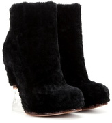 Fendi Fur wedge ankle boots