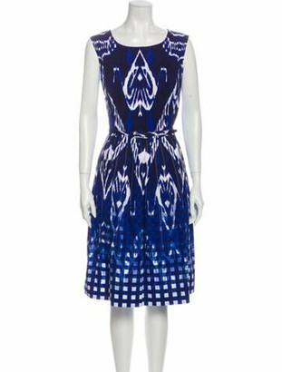 Oscar de la Renta 2015 Midi Length Dress Blue
