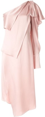 Monse rectangle cowl dress