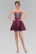 Elizabeth K - Sequined Sweetheart Tulle A-Line Dress GS1023