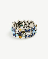 Ann Taylor Blue Bandana Stretch Bracelet
