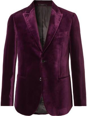 Paul Smith Teal Slim-Fit Velvet Tuxedo Jacket