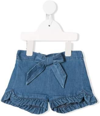 Chloé Kids frill trim denim shorts