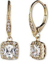 """Anne Klein Flawless"""" Gold-Tone and Cubic Zirconia Leverback Drop Earrings"""