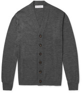 Brunello Cucinelli Virgin Wool And Cashmere-blend Cardigan - Gray