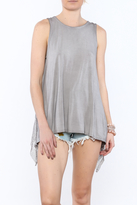 POL Grey Open Back Shirt