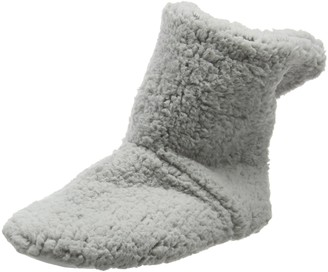 Eaze Grey Fleece Women's Hi-Top Slippers