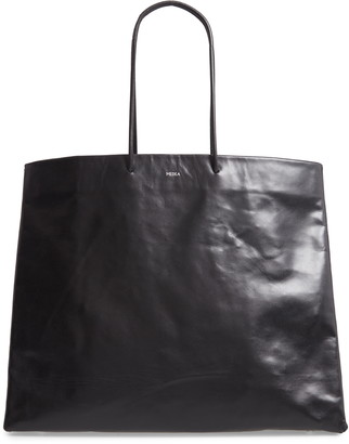 Medea Venti Busted Calfskin Leather Tote