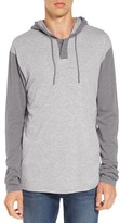 RVCA Men's Pick Up Hooded Henley Sweatshirt