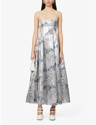 Erdem Adalyn floral-embroidered woven maxi dress