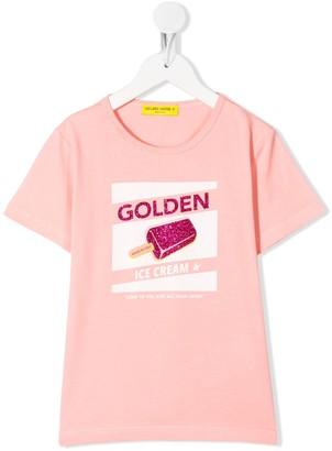 Golden Goose Kids Golden Ice Cream T-shirt