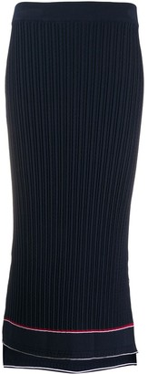 Thom Browne Cable Ribbed Fitted Skirt