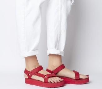 Teva Midform Universal Leather Sandals Red
