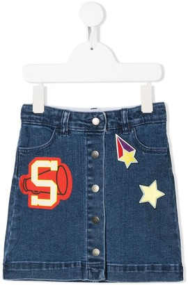 Stella McCartney Kids Patchwork Denim Skirt