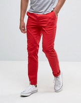 Asos Slim Chinos In Red