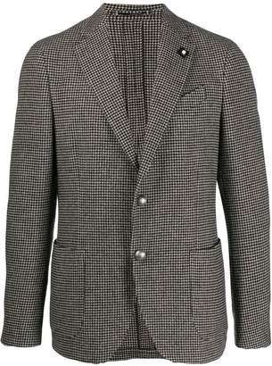 Lardini Houndstooth single-breasted blazer