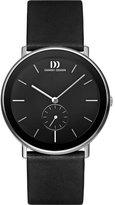 Danish Design Men's 42mm Leather Band Steel Case Sapphire Crystal Quartz Analog Watch IQ13Q925