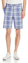 Haggar Men's Cool 18 Expandable-Waist Multi-Plaid Short