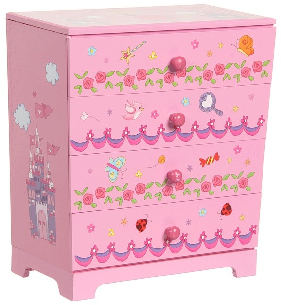 Mele Annette Decorated Paper Jewelry Box (Pink) - Accessories