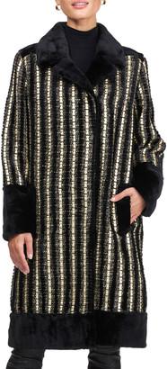 Pajaro Sheared Mink And Wool Short Coat