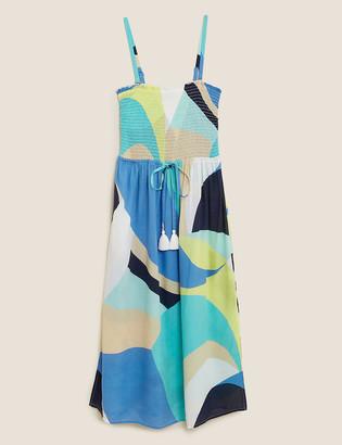 Marks and Spencer Swirl Shirred Midi Dress