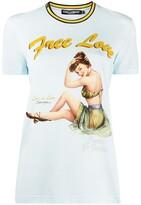 Dolce & Gabbana Free Love print T-shirt