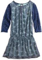 GUESS Mixed-Material Dress (7-16)