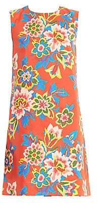 Carolina Herrera Women's Sleeveless Floral Shift Dress