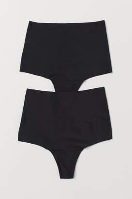 H&M 2-pack light shaping thongs